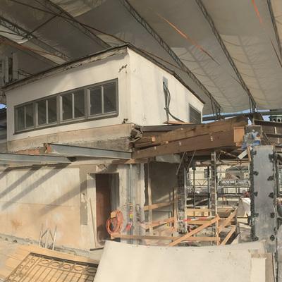 Steinterrasse - Baustelle